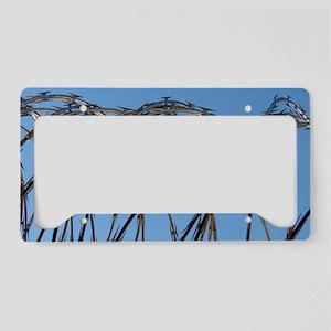 Razor Wire License Plate Holder