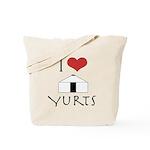 I Love Yurts Tote Bag