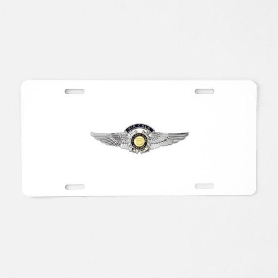 USCG Air Crew Badge Aluminum License Plate