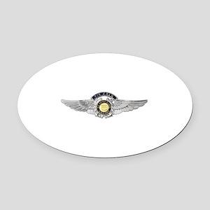 USCG Air Crew Badge Oval Car Magnet
