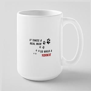 DOGS - TAKES REAL MAN TO WALK YORKIE Mugs