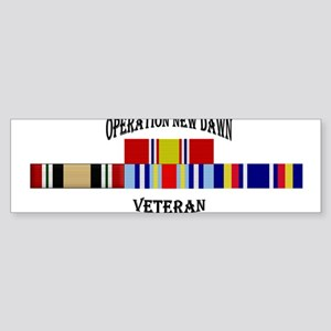 Operation New Dawn Ribbons Bumper Sticker
