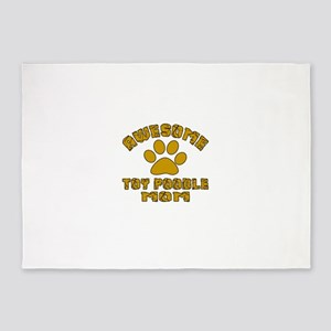 Awesome Toy Poodle Mom Dog Designs 5'x7'Area Rug