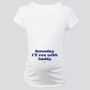 Someday With Daddy NAVY Maternity T-Shirt