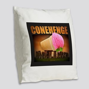 CONEHENGE Burlap Throw Pillow