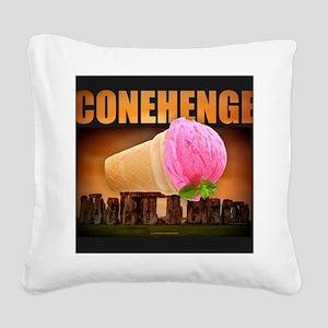 CONEHENGE Square Canvas Pillow