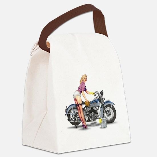 Unique Vintage pin up girls Canvas Lunch Bag
