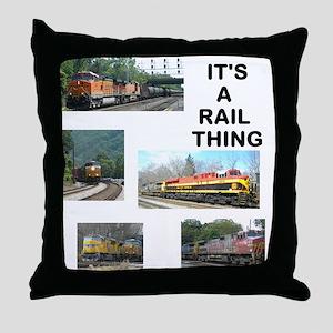 RailFans Throw Pillow