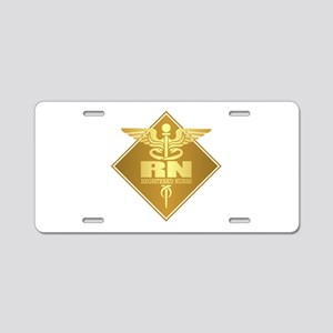 RN (g)(diamond) Aluminum License Plate