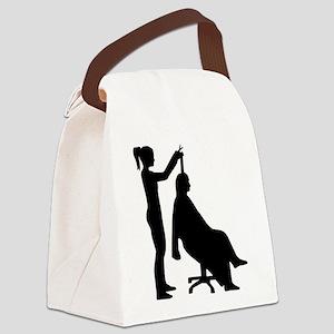 Hairdresser Canvas Lunch Bag