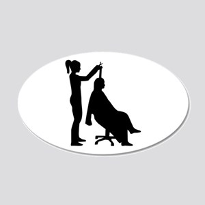 Hairdresser 20x12 Oval Wall Decal
