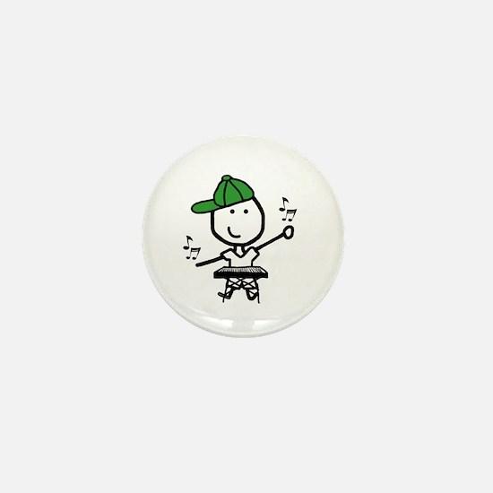 Boy & Keyboard Mini Button