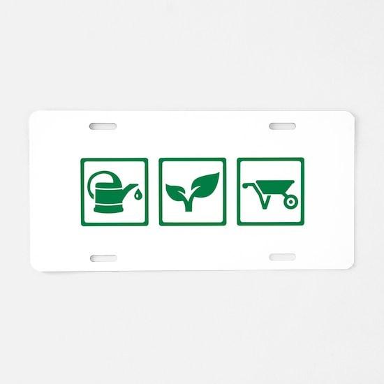Gardener Aluminum License Plate