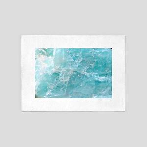 Blue-Agate-Art-Design 5'x7'Area Rug