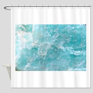 Blue-Agate-Art-Design Shower Curtain