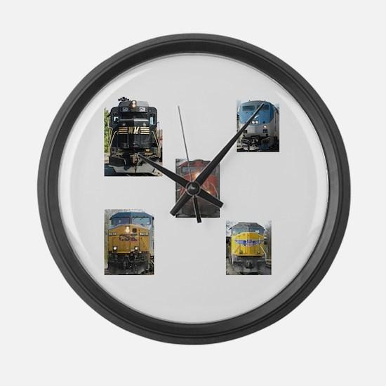 RailFans Large Wall Clock
