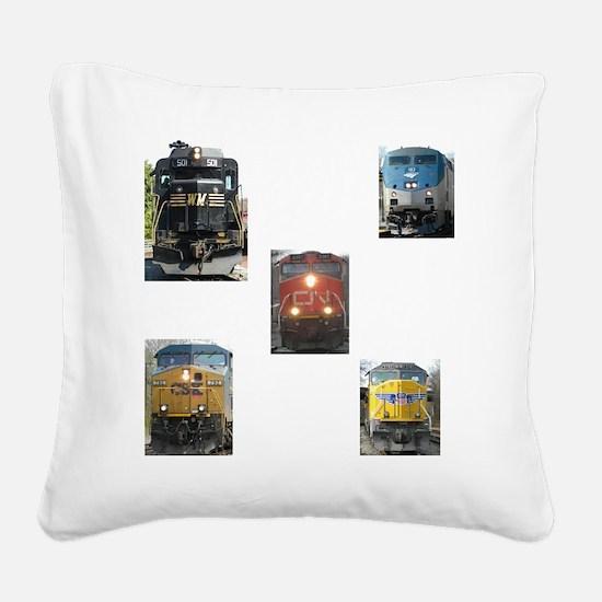 RailFans Square Canvas Pillow