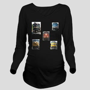 RailFans Long Sleeve Maternity T-Shirt