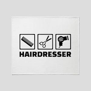 Hairdresser equipment Throw Blanket