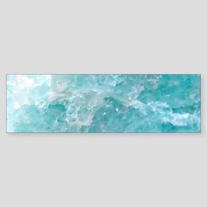 Blue-Agate-Art-Design Bumper Sticker