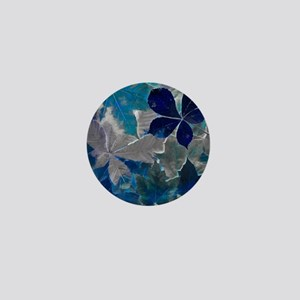 Fallen Leaves Abstract Mini Button
