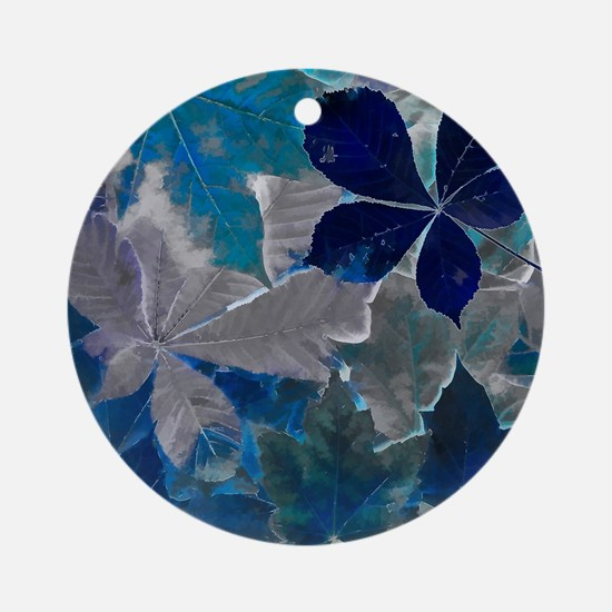 Fallen Leaves Abstract Round Ornament