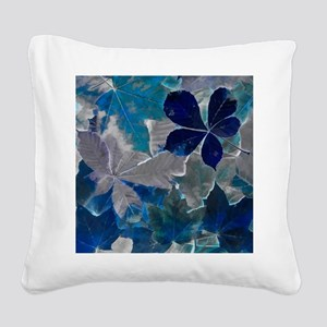 Fallen Leaves Abstract Square Canvas Pillow
