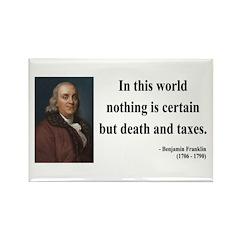 Benjamin Franklin 3 Rectangle Magnet