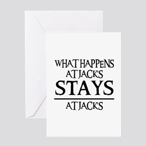 STAYS AT JACK'S Greeting Card