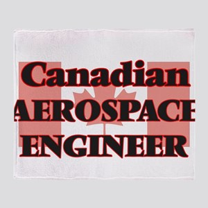 Canadian Aerospace Engineer Throw Blanket