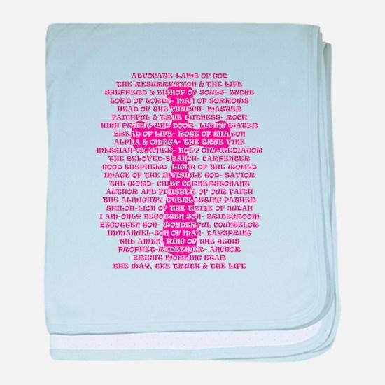 Names of Jesus found in Scripture baby blanket