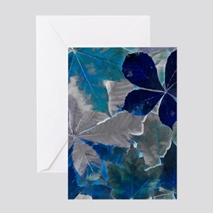 Fallen Leaves Abstract Greeting Cards