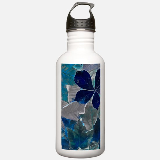 Fallen Leaves Abstract Water Bottle
