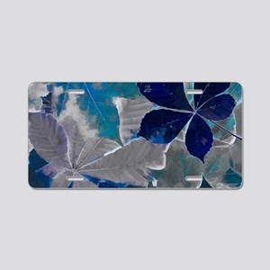 Fallen Leaves Abstract Aluminum License Plate