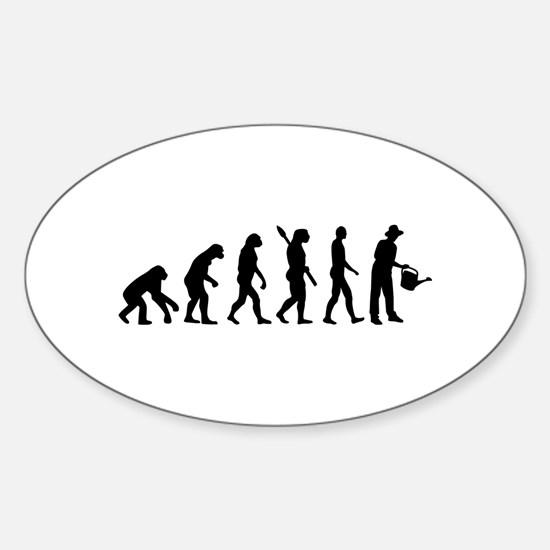 Evolution Gardener Sticker (Oval)