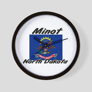 Minot North Dakota Wall Clock