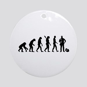 Evolution Electrician Round Ornament