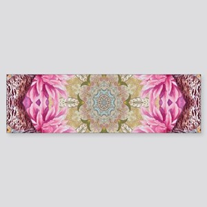 zen pink lotus flower hipster Bumper Sticker