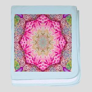 zen pink lotus flower hipster baby blanket