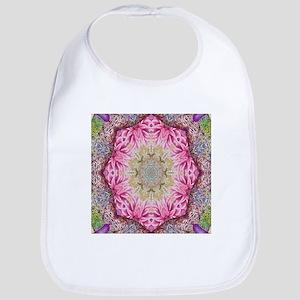 zen pink lotus flower hipster Bib