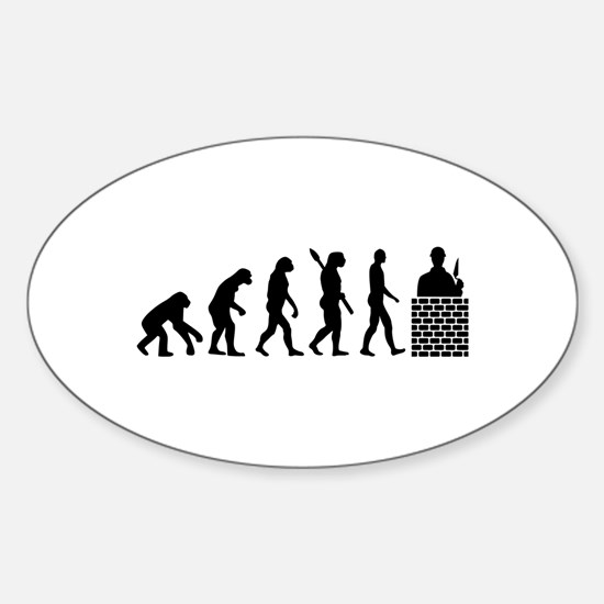 Evolution Mason Sticker (Oval)