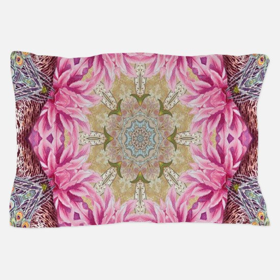 zen pink lotus flower hipster Pillow Case