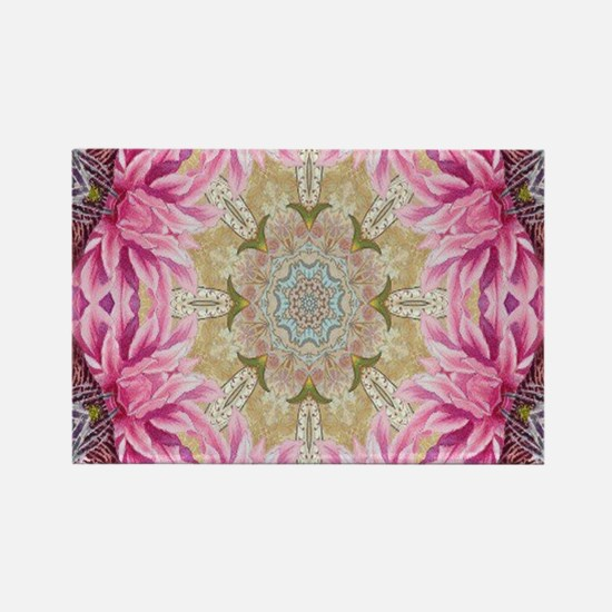 zen pink lotus flower hipster Magnets