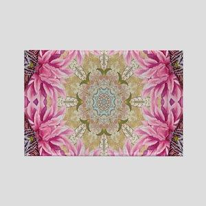 zen pink lotus flower hipster Magnets