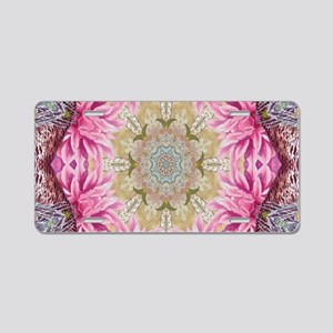 zen pink lotus flower hipst Aluminum License Plate