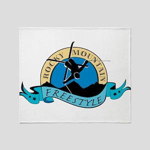 Rocky Mountain Freestyle Throw Blanket