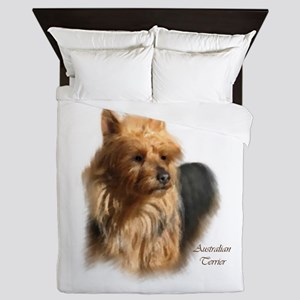 Australian Terrier Art Name Queen Duvet