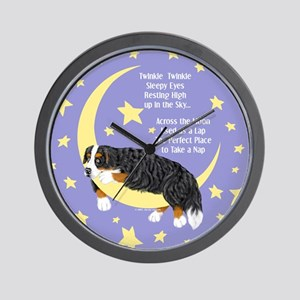 Bernese MT Dog Twinkle Wall Clock