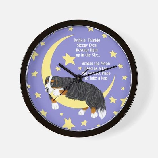 Bernese MT Dog Twinkle Wall Clock