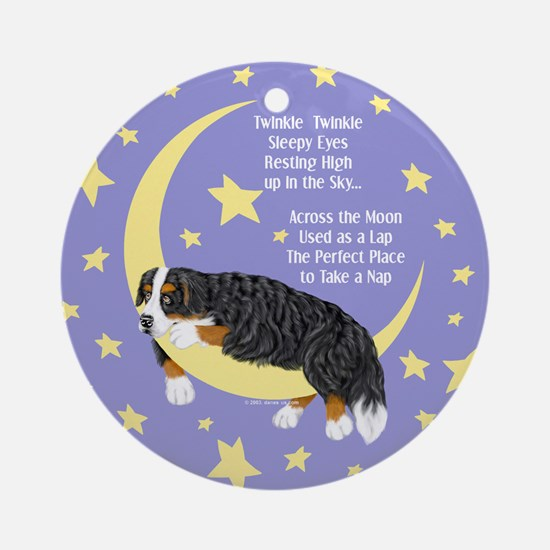 Bernese MT Dog Twinkle Ornament (Round)